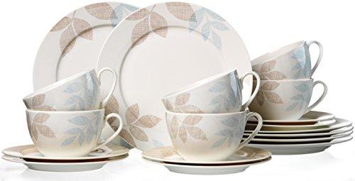 Ritzenhoff & Breker 035827 Kaffeeservice Cecilia aus Fine China Porzellan, 18-teilig