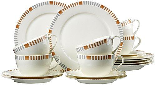 Ritzenhoff & Breker 035889 Kaffeeservice Elba aus Fine China Porzellan, 18-teilig