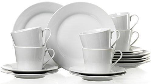Ritzenhoff & Breker 079456 Kaffeeservice Bianco, 18-teilig