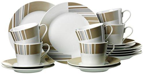 Ritzenhoff & Breker 33793 Kaffeeservice Belmondo, 18-teilig