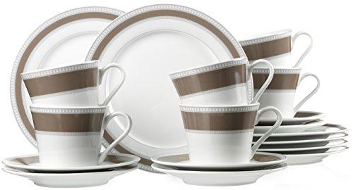 Ritzenhoff & Breker 35353 Kaffeeservice Classico, 18-teilig