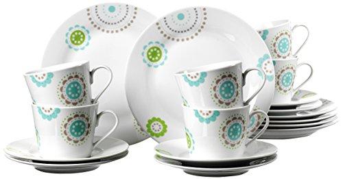 Ritzenhoff & Breker 38620 Kaffeeservice Jessie, 18 teilig