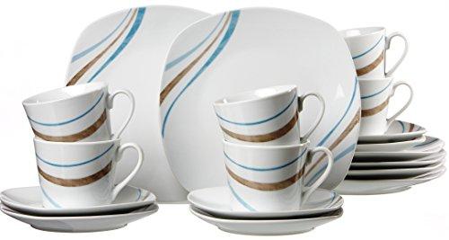 Ritzenhoff & Breker 63943 Kaffeeservice Luna, 18-er teilig
