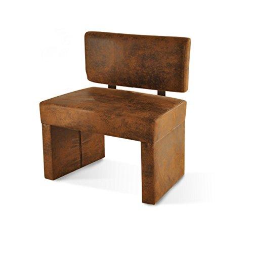 sam esszimmer sitzbank scarlett 80 cm in brauner wildlederoptik sitzbank mit rckenlehne aus. Black Bedroom Furniture Sets. Home Design Ideas