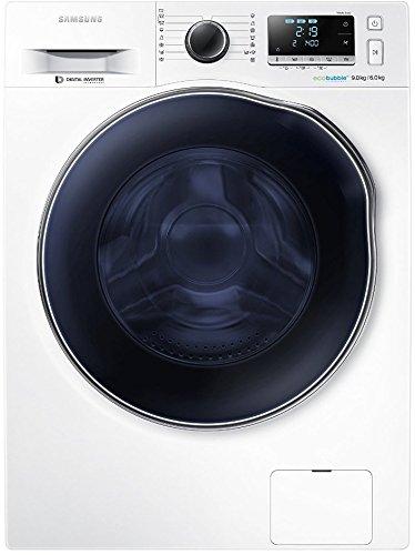 Samsung WD90J6400AWEG Waschtrockner (1224 kWh, Diamond Pflegetrommel) weiß