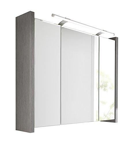 Schildmeyer 133076 Spiegelschrank Holz, esche grau Dekor, 70 x 17 x 67 cm