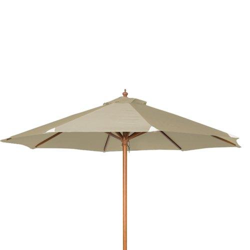 siena garden 209105 sonnenschirm holzgestell teakoptik durchmesser 270 cm bezug polyester. Black Bedroom Furniture Sets. Home Design Ideas