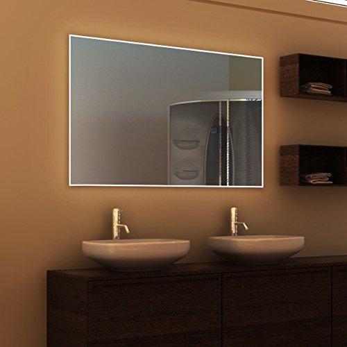 Siena - LED Badspiegel mit Beleuchtung - (B) 50 cm x (H) 70 cm