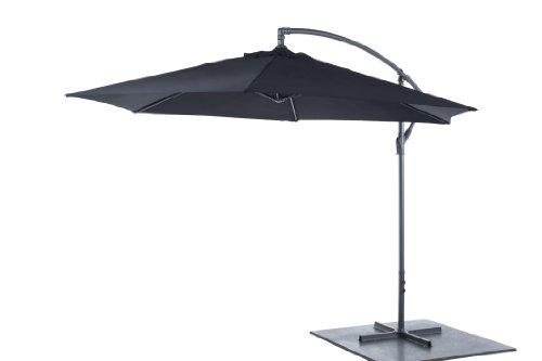 m bel24 sonnenschirm ampelschirm kurbelschirm 3m h2 5m gartenschirm aluminium sonnenschutz. Black Bedroom Furniture Sets. Home Design Ideas
