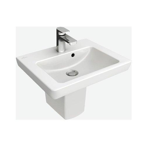 V&B Villeroy und Boch Subway 2.0 Waschtisch, Design Waschbecken 60 cm weiß 71136001