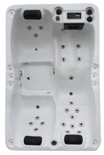 Vasa-Fit, Whirlpool W195S, Jacuzzi, Whirlpool aus hochwertigem Sanitäracryl für 2-3 Personen in SkyWhite