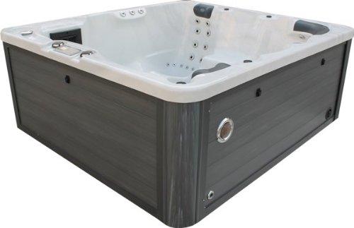 Vasa-Fit, Whirlpool W200, Jacuzzi, Whirlpool aus hochwertigem Sanitäracryl für 4-6 Personen Sky White