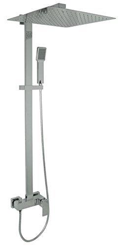Welfenstein Aufputz Set 2S-ES40 Regendusche 40x40cm Duschsystem mit Armatur