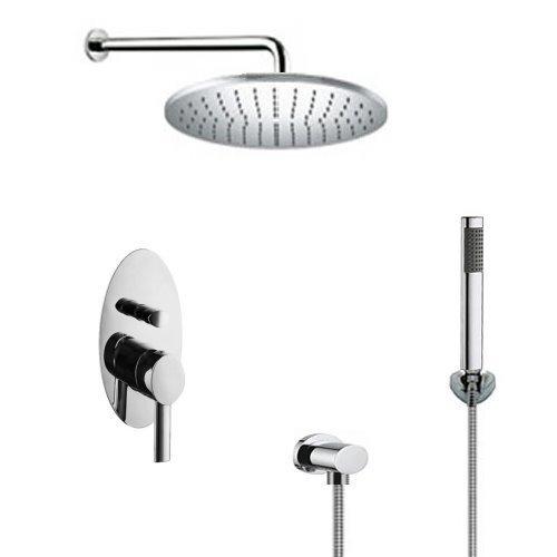 welfenstein regendusche komplett set 71 oval unterputz duschset 0 m bel24. Black Bedroom Furniture Sets. Home Design Ideas
