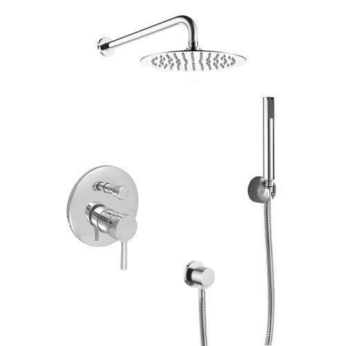 Welfenstein Unterputz Set 6ES-30 für Duschen - Regenbrause aus Edelstahl 30cm