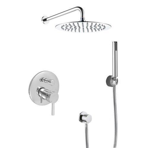 Welfenstein Unterputz Set 6ES-40 für Duschen - Regenbrause aus Edelstahl 40cm
