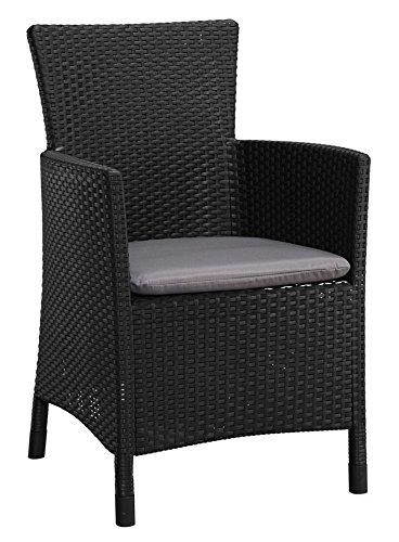 baumarkt direkt Gartenstuhl »Napoli« (2Stück) 2 Stühle, anthrazit