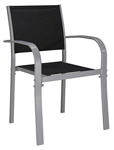 baumarkt direkt Stapelstuhl »Lima« (2 Stück) 2 Stühle, schwarz