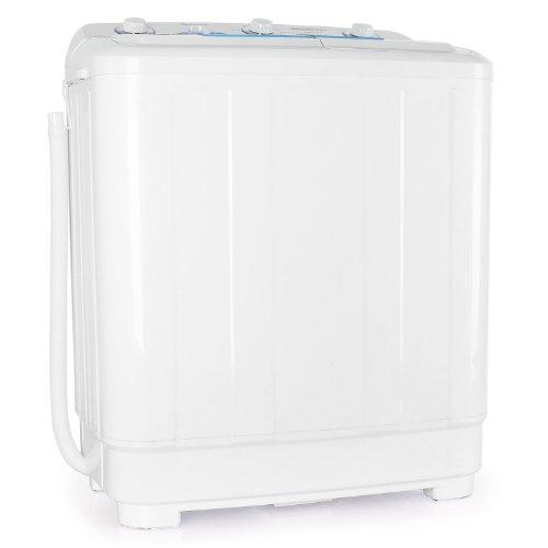 oneConcept DB005 große Waschmaschine XXL Toploader Schleuder (8,5kg, 2Waschprogramme, 520W) weiß