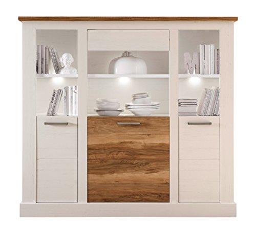 trendteam tr86461 highboard wohnzimmerschrank landhausstil. Black Bedroom Furniture Sets. Home Design Ideas