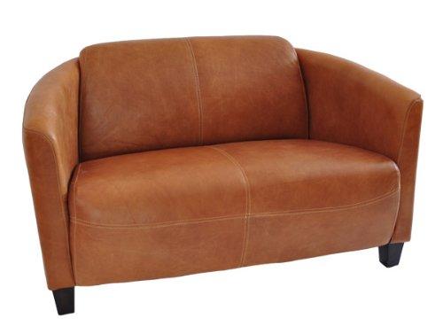 Clubsofa Rocket 2-Sitzer Vintage Leder, hell Columbia Brown Echtleder Sofa Couch