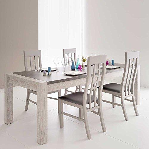 essgruppe in grau modern 5 teilig pharao24 m bel24. Black Bedroom Furniture Sets. Home Design Ideas