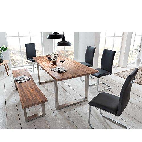 essgruppe mit baumkante bank 6 teilig pharao24 m bel24. Black Bedroom Furniture Sets. Home Design Ideas