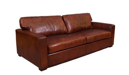 Loungesofa Durban 3-Sitzer Vintage-Leder Vintage Cigar (dunkelbraun) Echtleder Sofa Couch