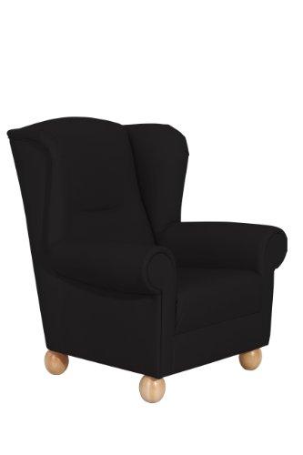 Max Winzer 6527-1100-2070140 Sessel Merle, Einzelsessel, Kunstleder, schwarz