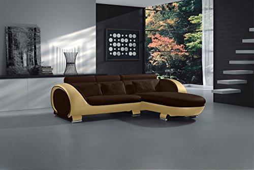 SAM® Ecksofa Vigo Combi 1 242 x 181 cm in braun creme rechts Polsterecke Couch Sofa