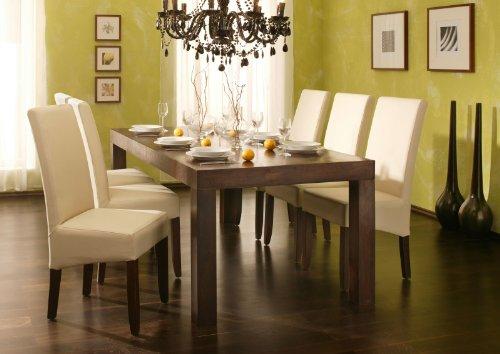 sam esszimmer tischgruppe cubus 7tlg sheesham holz 1 x tisch cubus 7029 in walnuss farben. Black Bedroom Furniture Sets. Home Design Ideas