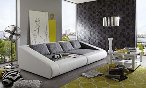 SAM® Schlafsofa Siena grau weiß Sofa 260 cm inklusive Kissen Lieferung per Spedition