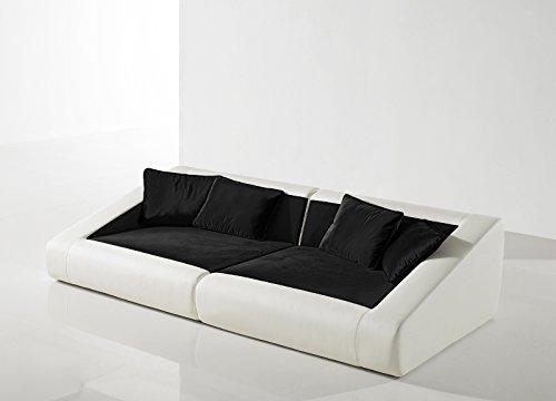 SAM® Schlafsofa Siena schwarz weiß Sofa 260 cm inklusive Kissen Lieferung per Spedition