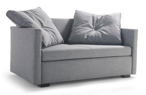 Schlafsofa LAVIN, 133x209cm, Sofa mit Schlaffunktion von Signet - Sam silberschilf