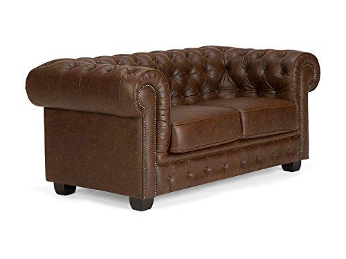 massivum Sofa Chesterfield 172x77x95 cm Echtleder braun