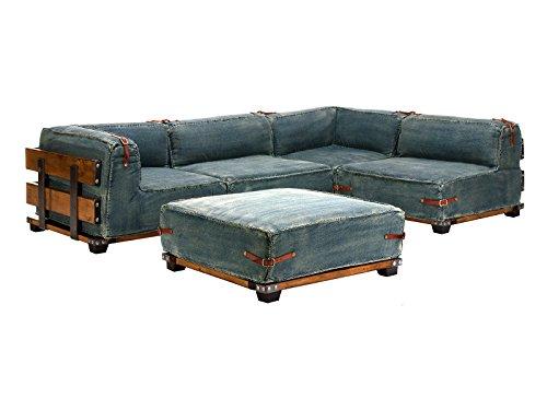 massivum sofa fairview 275x65x182 cm flachgewebe stoff blau m bel24. Black Bedroom Furniture Sets. Home Design Ideas