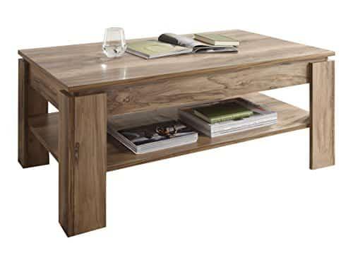 trendteam CT Couchtisch Wohnzimmertisch Tisch| Nussbaum Satin| 110 x 65 cm