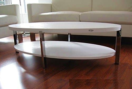 DESIGN COUCHTISCH O-111 weiß weiss oval Carl Svensson NEU Tisch