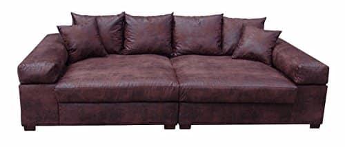Big Sofa Couch Garnitur XXL Megasofa Riesensofa Wohnlandschaft Ultrasofa braun