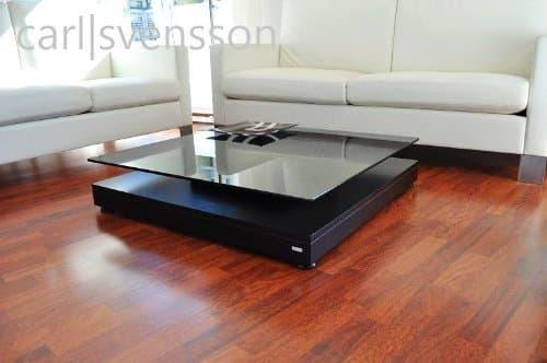 DESIGN COUCHTISCH schwarz V-570 getöntes Glas Carl Svensson