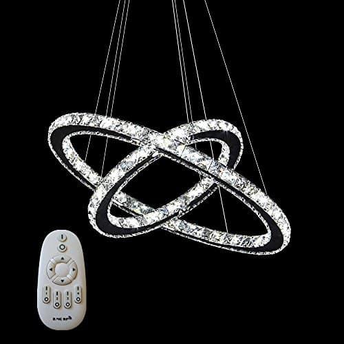 48W/63W/72W/96W LED Kristall Design Hängelampe Deckenlampe Pendelleuchte Kreative Kronleuchter Zwei/Drei Ringe Kaltes Weiß Warmweiß Dimmbar Lüster