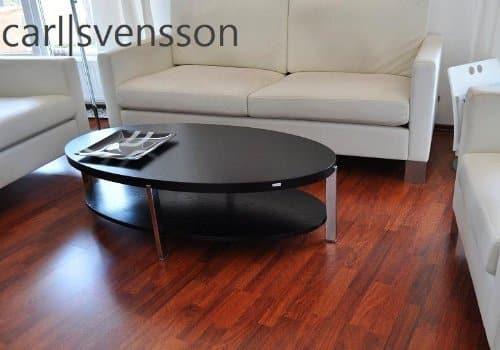 DESIGN COUCHTISCH O-111 schwarz oval Carl Svensson NEU Tisch