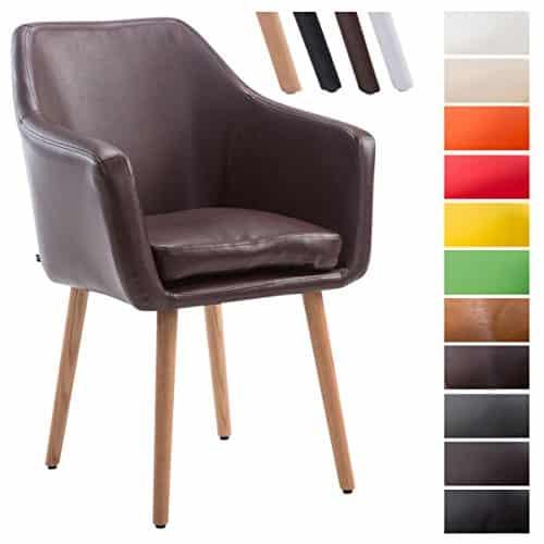 clp besucher stuhl utrecht max belastbarkeit 150 kg kunstleder bezug holz gestell eiche. Black Bedroom Furniture Sets. Home Design Ideas