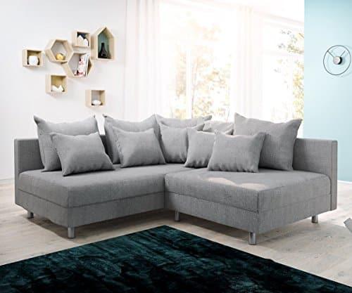 Couch Clovis modular - Ecksofa, Sofa, Wohnlandschaft & Modulsofa (Grau, Ecksofa Links)