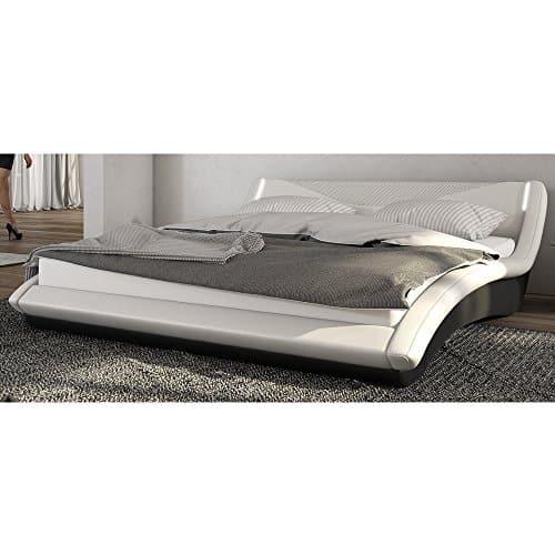 Innocent Polsterbett 180x200 cm weiß/schwarz mit LED Lebua