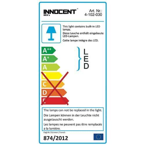 Innocent Polsterbett Kunstleder mit LED-Beleuchtung Paladium