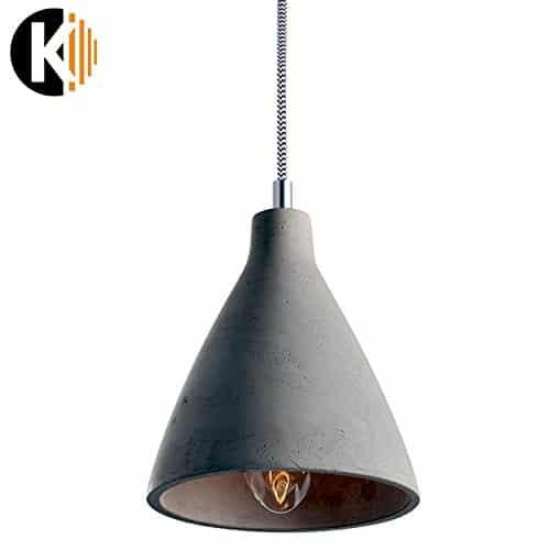 "PREMIUM ZEMENT DESIGN ""HANG-19a"" Deckenlampe Pendelleuchte Pendellampe in Zement Grau, 1x E27 maximal 60 W ohne Leuchmittel"