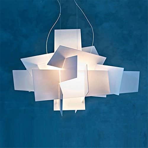 Vi-xixi Moderne Pendelleuchte Design minimalistische wohnzimmer schlafzimmer Mode Hängelampe Kreative Persönlichkeit weiß Esstisch Höhenverstellbar Kronleuchter Beleuchtung, 2 X E27, Ø 65 cm