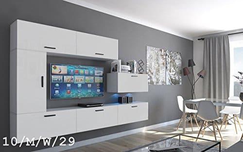 Wohnwand FUTURE 10 Moderne Wohnwand, Exklusive Mediamöbel, TV-Schrank, Neue Garnitur, Große Farbauswahl