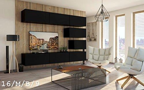 Wohnwand future 16 anbauwand schrankwand moderne wohnwand for Exklusive wohnwand
